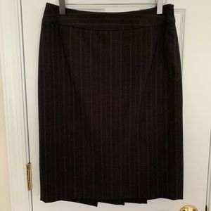 Gray with light gray pinstripes skirt